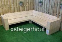 Om zelf te maken / Steigerhout meubel bouwpakketten van Xsteigerhout.nl uit Monster