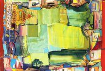 Ручная роспись шелка Батик / шелковые платки, расписанные вручную в технике Батик