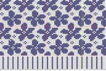 WGC - Blomst - Bær / Wayuu, Graphghans, Cross Stitch