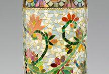 mosaicos en botellas
