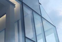 Glass+Black frame facade