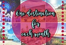 Monthly travel plans