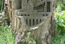 Garden Designs-Stumpery / by Elizabeth Boehringer