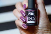 Purple nails / Purple on nails. <3