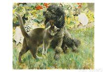 Cani e gatti nell'arte / by susanna soro