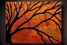 tree paintings/photos