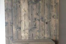 Tv wand steigerhout