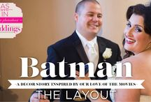 """Batman - A Real Weddings Styled Shoot / From the """"Batman"""" feature in the Summer/Fall 2015 issue of Real Weddings Magazine, Photography by Farrell Photography © Real Weddings Magazine, www.realweddingsmag.com. For a full list of vendors on this styled shoot, and to see more photos, go to:  http://www.realweddingsmag.com/sacramento-wedding-inspiration-batman-styled-shoot-blog-series-the-layout"""