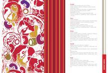 Maturitní práce / Graduation works / Návrh pro vzhled Mexické restaurace. Linoryt zpracovaný ve Photoshopu, Illustratoru i In Designu