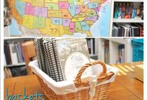 Homeschool | Room Organisation tips / Making the space you have for your homeschooling workable.