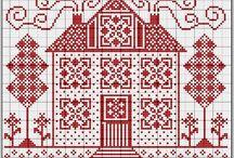 Zimne vzory na vysivanie a pletenie