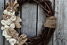 burlap, lace and twine LOVE!!! / by Jean Radunz