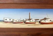My artwork on old wooden doors / by Natalia Tejera