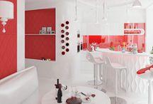 Дизайн интерьера квартиры в стиле хай тек / Пожелания заказчика: разыграть дизайн интерьера квартиры в стиле хай тек цветовой сценарий весеннего многообразия.