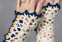 Mitones tejidos y de crochet