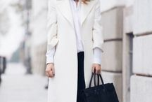 White coat with sneakers