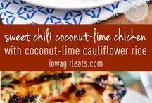 Sweet chilli coconut lime chicken cauliflower rice