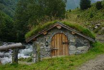 bygge stein hytte