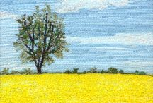 Thread n fabric painting