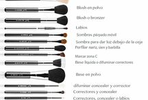 Maquillaje tipos brochas