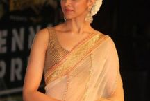 my hair style for Saree