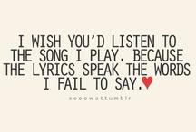 Lyrics that mean.. ME