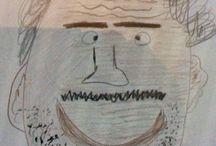 2Aa masker Arthur Versloot. / Op dit bord kan je zien hoe ik mijn masker heb gevormd.