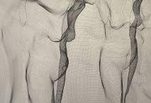 nät och tråd skulpturer