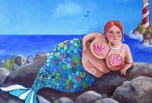 Meerjungfrauen und Meer