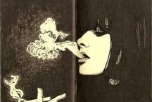 Курящие, дым, смок