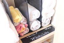 towels in closet