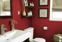 Bathrooms / Black and red!