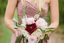 Blush and Marsala wedding / Blush pink and marsala wedding ideas. Pretty and unique color combo for fall.
