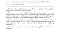 Young Women 2014 Theme