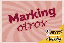 Marking Otros / ¿Qué quieres marcar? Aquí te damos varias ideas, la diferencia es el color.