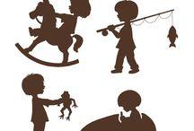 silhouettes enfants