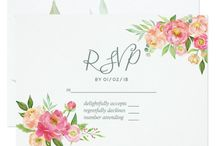 Spring Watercolor Peonies Wedding Suite 1 / Spring Wedding collection customizable to your event specifics.