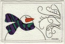 Fabric postcards / by Patti Rusk