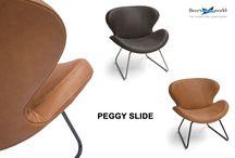 Cognac leder / Diverse design meubels van Bree's New World uitgevoerd in cognackleurig leder. Cognac is nog steeds één van de trendkleuren van het moment.