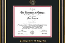 University of Georgia - UGA - Diploma Frames and Graduation Gifts / Official UGA Diploma frames. Exquisitely crafted to exacting specifications for the UGA diploma. Custom framed using hardwood mouldings and all archival materials, including UV glass to prevent fading from sunlight AND indoor incandescent lighting! Each frame exceeds Library of Congress standards for document preservation and includes a 100% lifetime guarantee, ensuring that a hard-earned achievement will be honored and protected for generations. Makes a thoughtful and unique graduation gift!