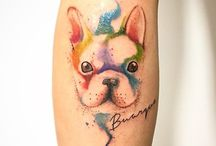 Frenchie tattoos