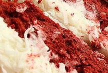 cake- red velvet & coconut cream frosting