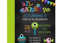 Little Monster Birthday Party Suite / Little Monster party package customizable to your specifics.