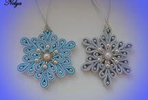Kanzashi Ribbon Snowflakes