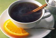 tea, coffee, chocolate