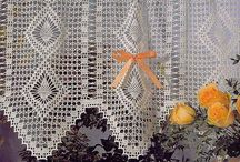 patrones cortinas crochet