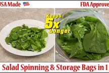 """""""Spin n Stor"""" Salad and Herb spinning bag / Argee """"Spin 'n Stor"""" Reusable Salad Spinning Bags 12 pack by Argee. $5.51. Space saver. Fits in the drawer.. Becomes your container.. Replaces bulky salad spinner. Take anywhere with you.. Produce & Herbs stay fresher longer. Spin 'n Stor, Reusable Salad Spinning Bags - The Only patented reusable bag to Spin Produce & Herbs Dry. This reusable bag replaces the big, bulky, salad spinner. A Space Saver that fits in the drawer. No more wasted paper towels, no more searc."""
