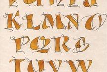 Alphabet lettering style