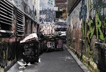 Alleyways / Visual reference and exploration for alleyways short film.