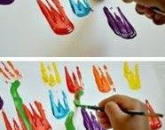 Kinder malen u basteln